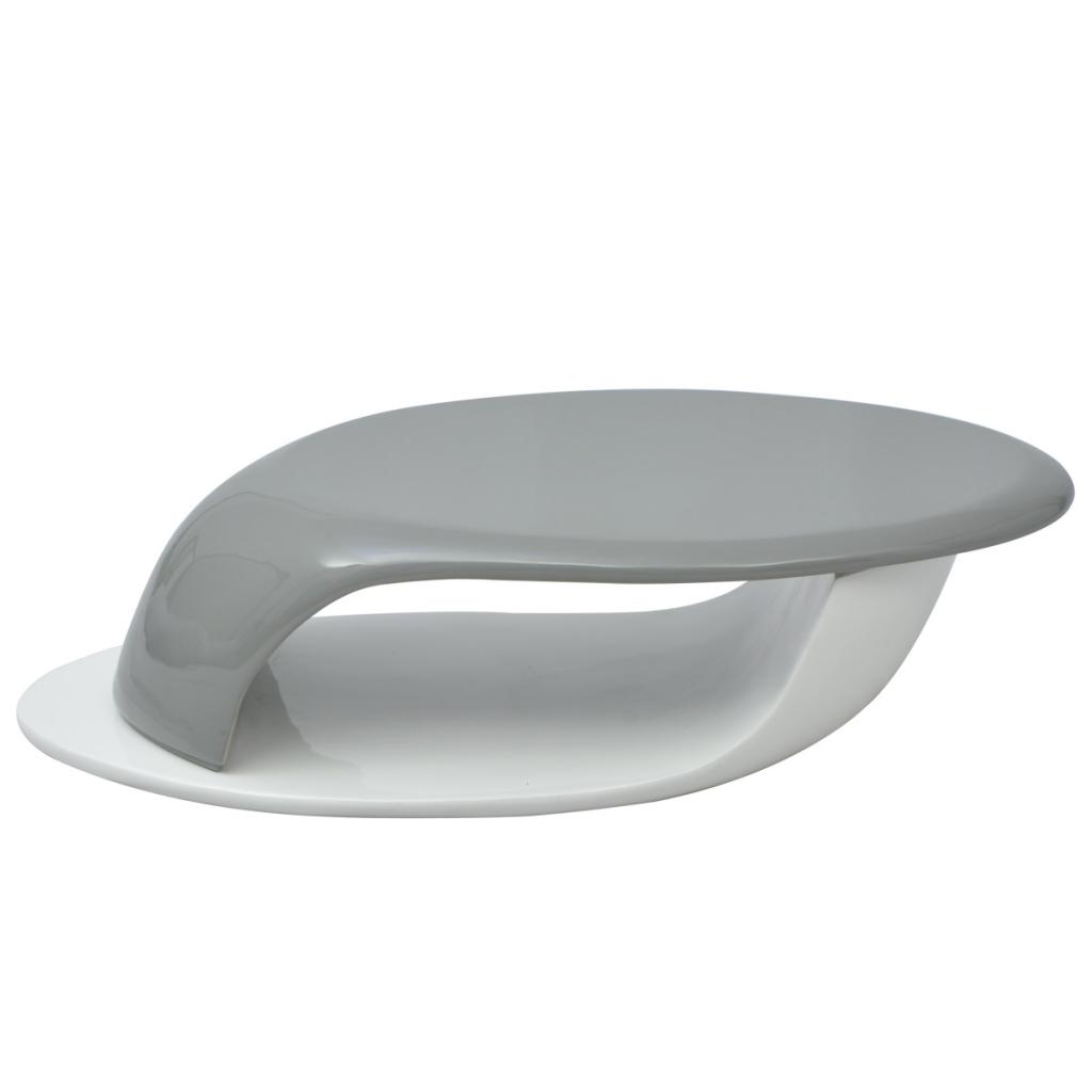 Soffbord glasfiber högglans grå och vit [1412330] - 2599 ...