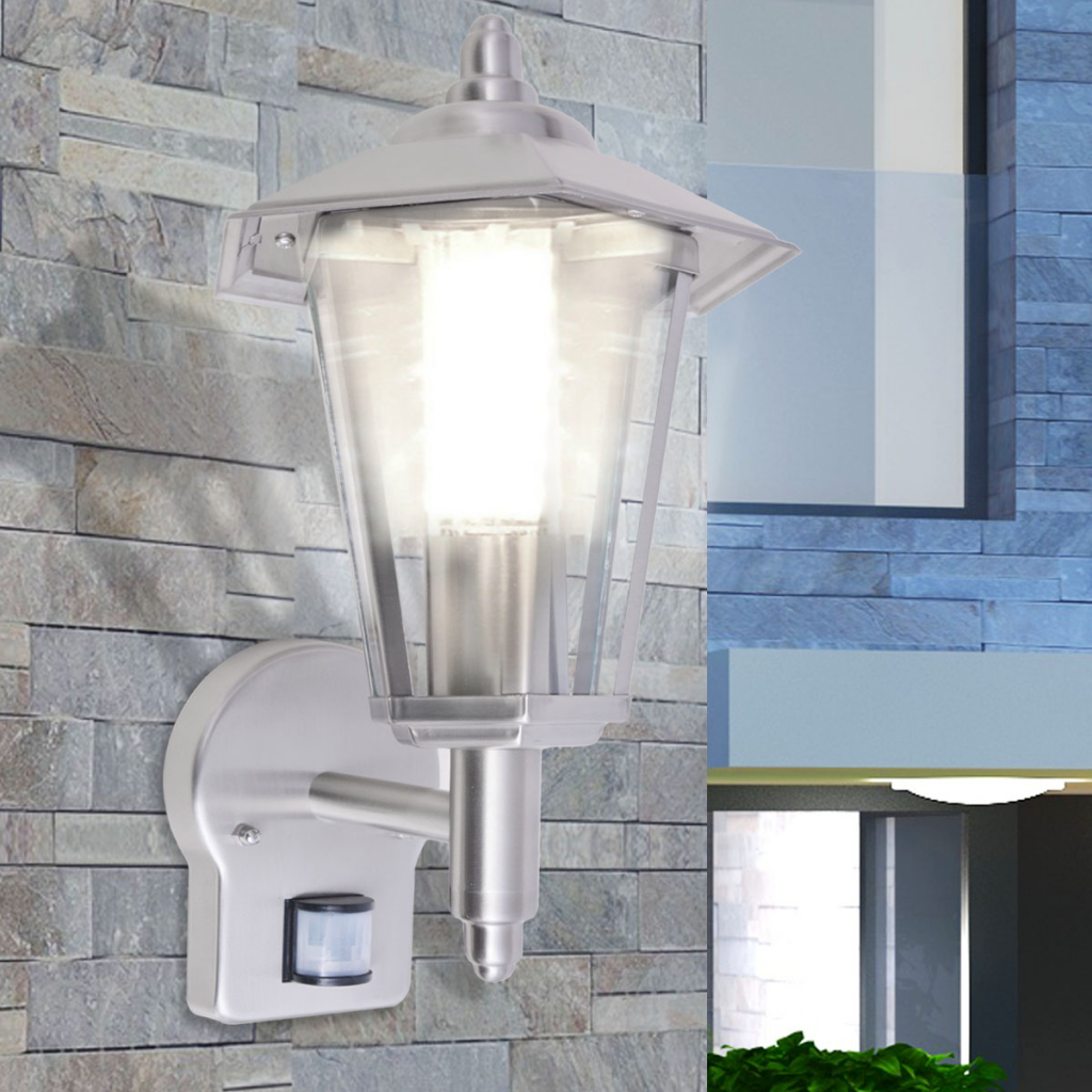 Icke gamla Uplight utomhusvägglykta med sensor rostfritt stål utelampa IZ-69